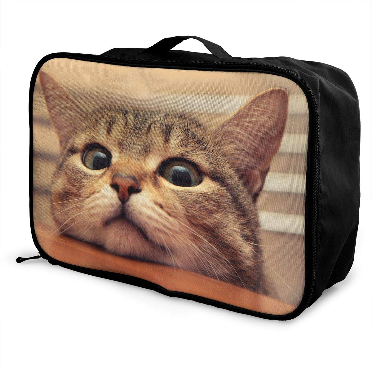Travel Luggage Duffle Bag Lightweight Portable Handbag Cute Cat Print Large Capacity Waterproof Foldable Storage Tote