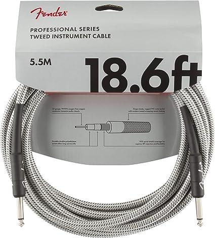 Fender Professional Series - Cable de fibra óptica (5,5 m) Tweed ...