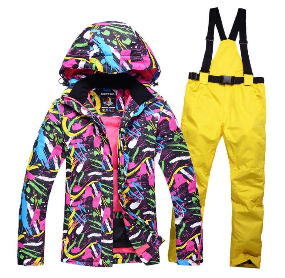 Z&X Skijacke - Wasserdichter Skianzug Schneeanzug Winter Skifahren Warm halten Damen Skijacke und -Hose für Snowboard, Bergsteigen - Mehrfarbig B07M7JVR3T Bekleidung Hochwertige Produkte