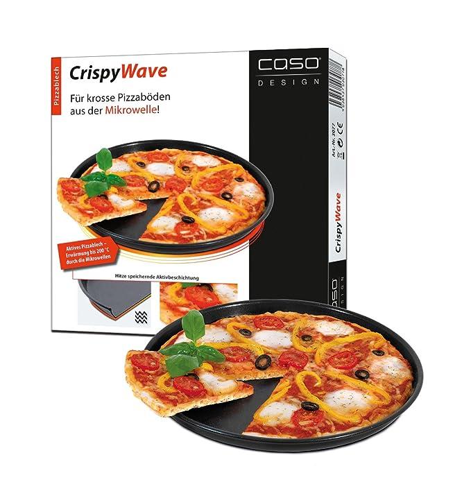 Caso CrispyWave - Bandeja de pizza para microondas, 24 cm: Amazon ...