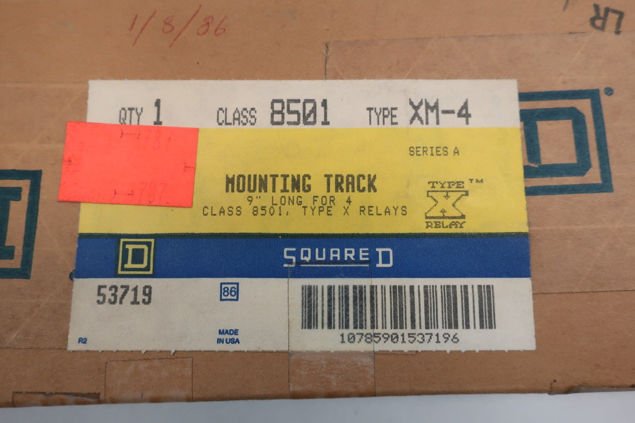 1 new SQUARE D 8501XM4 Mounting Track 9 in