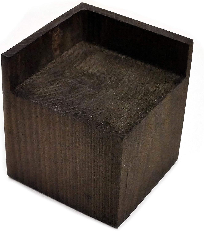 Create Storage Space Dark Almanor Goods Bed Risers Furniture Lifters Wood Set of 4 Heavy Duty Handmade Rustic Pine