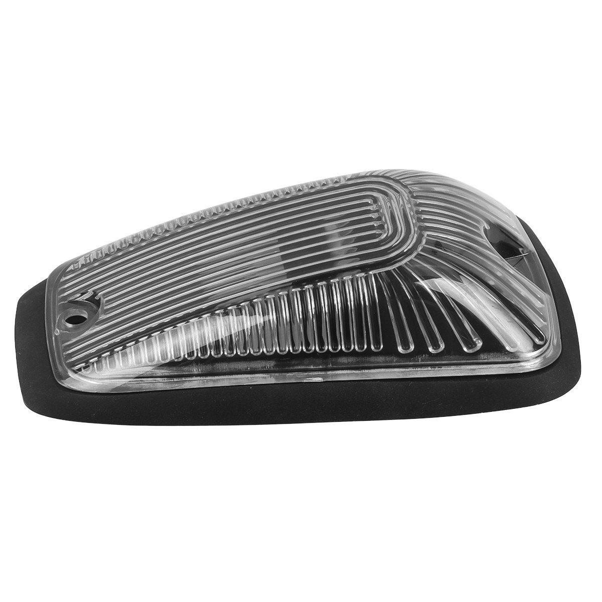 Partsam 5X Smoke Cab Roof Top Marker Cover//Base Compatible with Chevy//GMC C1500 C2500 C3500 C5500 C6000 C6500 C7000 C7500 K1500 K2500 K3500 K5500 K6000 K6500 K7000 K7500 1988-2002 Kodiak Topkick
