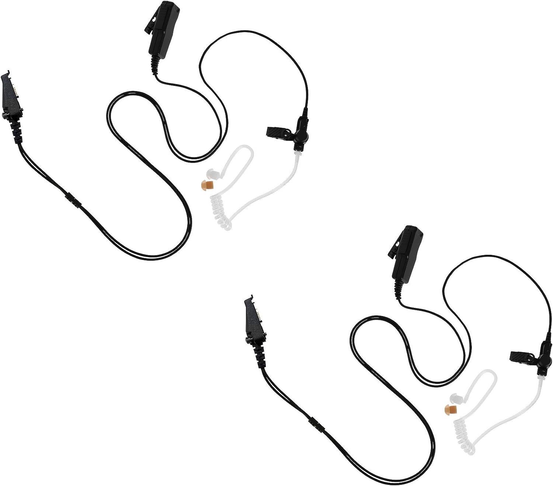 Arrowmax 2 Pack ASK4032-K3 2-Wire Acoustic Ear Tube Surveillance Kit for Kenwood NEXEDGE NX-200 NX-210 NX-300