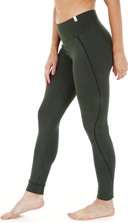 Satva Super Soft Organic Cotton Womens Active Yoga Pants Highwaisted Leggings with Hidden Pocket - Prema Legging