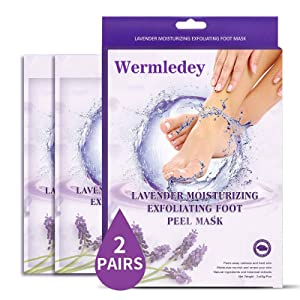 Foot Peel Mask 2Pack, Exfoloating Foot Peeling Mask for Dead Skin & Callus Remover, Exfoliating Foot Mask, Baby Soft Smooth Feet Care for Men Women(Lavender)