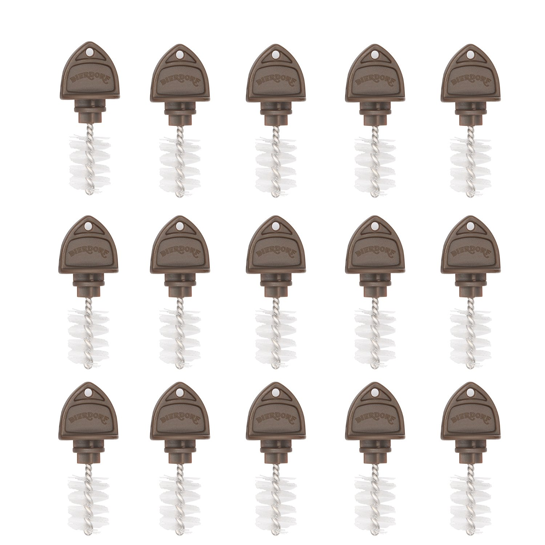 Beer Tap Plugs Brush, Beer Faucet Brush Plugs for Draft Beer Faucet Cap - 15 Pack by SolarMatrix
