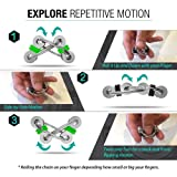 Stress Relief Sensory Fidget Toys For Adults & Kids - Glow In The Dark Hand Spinner & Flippy Chain Toy With Free Carrying Bag - For Fidgeters, Anxiety, Focus, ADHD, Autism #1 Therapist