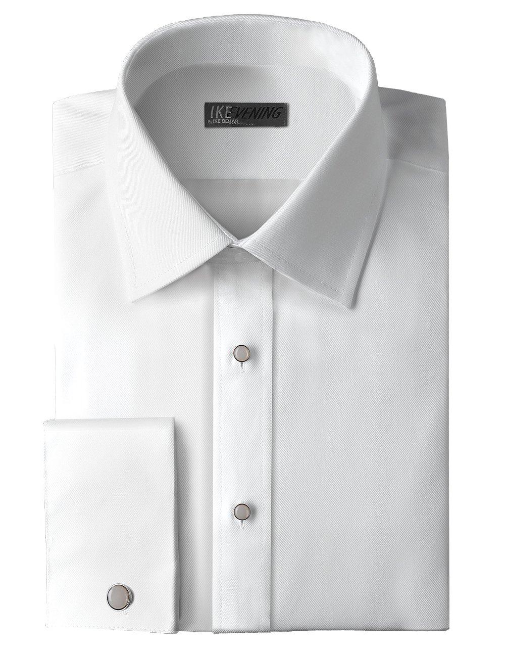 Ike Behar Traditional Fit 100% Woven Cotton Tuxedo Dress Shirt by Ike Behar