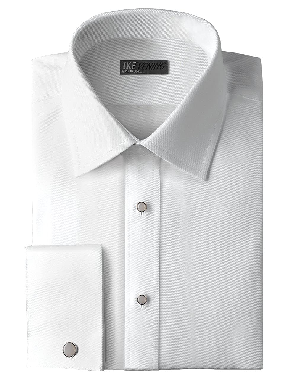 IKE Behar Traditional Fit 100% Woven Cotton Tuxedo Dress Shirt