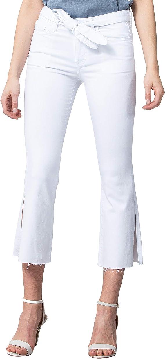 VERVET - Pantalones Vaqueros para Mujer con Abertura Lateral y ...