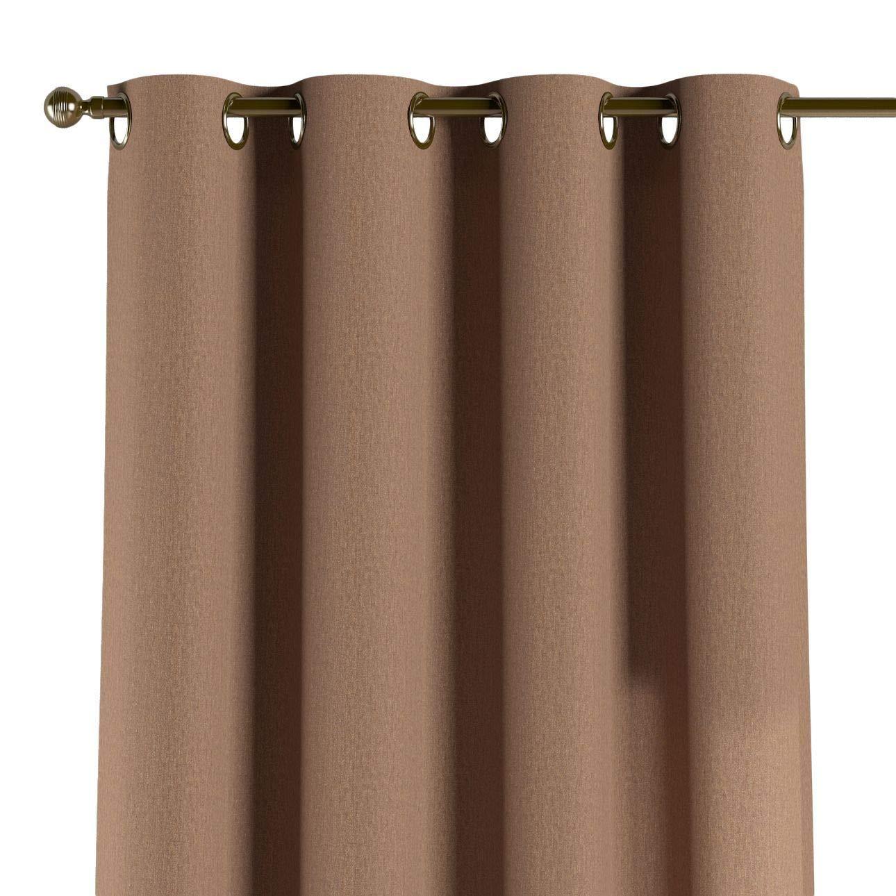 Dekoria Ösenschal Dekoschal Blickdicht 1 Stck. 130 × 260 cm Caffe Latte Maßanfertigung möglich