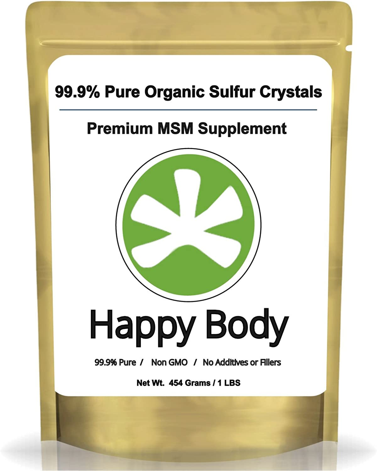 Organic Sulfur Crystals, 99% Pure MSM Crystals, Premium MSM Supplement - 1 LBS Pack