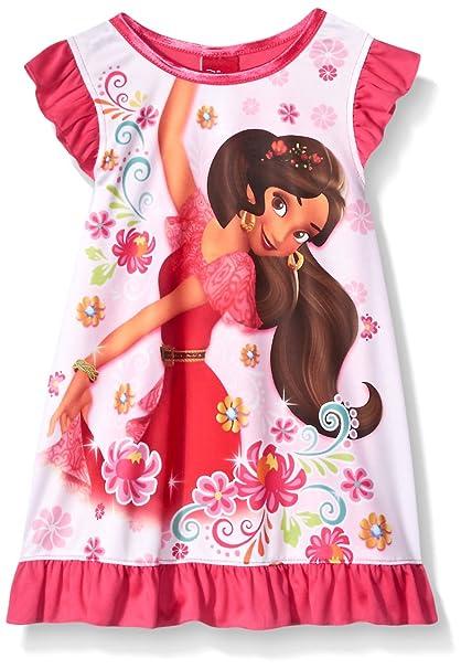 Amazon.com: Disney Elena Camisón De Las Niñas, 2T, Blanco ...