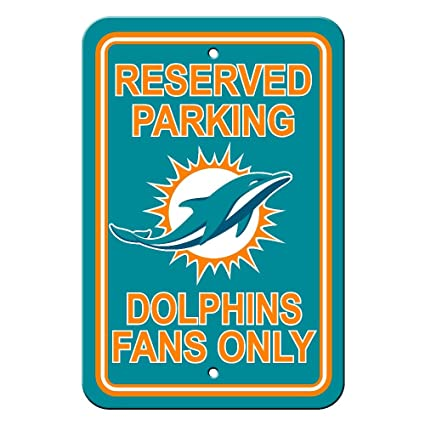 Amazon.com   Fremont Die NFL Miami Dolphins Reserved Parking Sign ... e98e9e432
