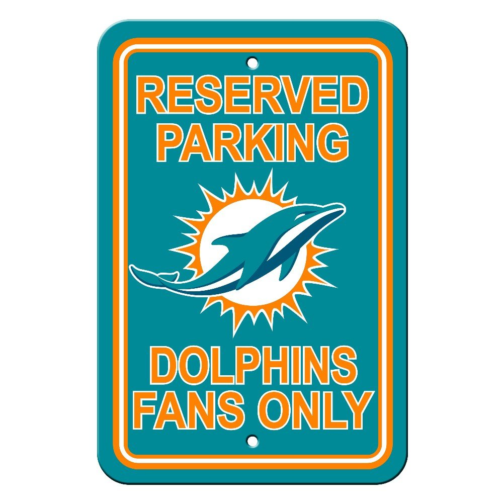 Fremont Die NFL Miami Dolphins Reserved Parking Sign
