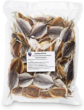 Selaroides Leptolepis Original- (1kg XXL Pack) secado y salado I Bajo en carbohidratos I de pescado alta en proteínas I rico en Omega - 3- sin ...