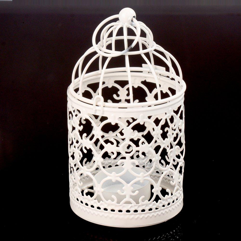HWKAIZ Bird Cage Metal Candle Holder Hollow out Iron Decorative Centerpiece Hanging Candlestick Lantern