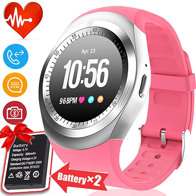 [2 Battery] Smart Watch Phone for Women Sports Watch Fitness Tracker with Sleep Monitor Pedometer Calorie Run Digital Activity Tracker Wrist Watches ...