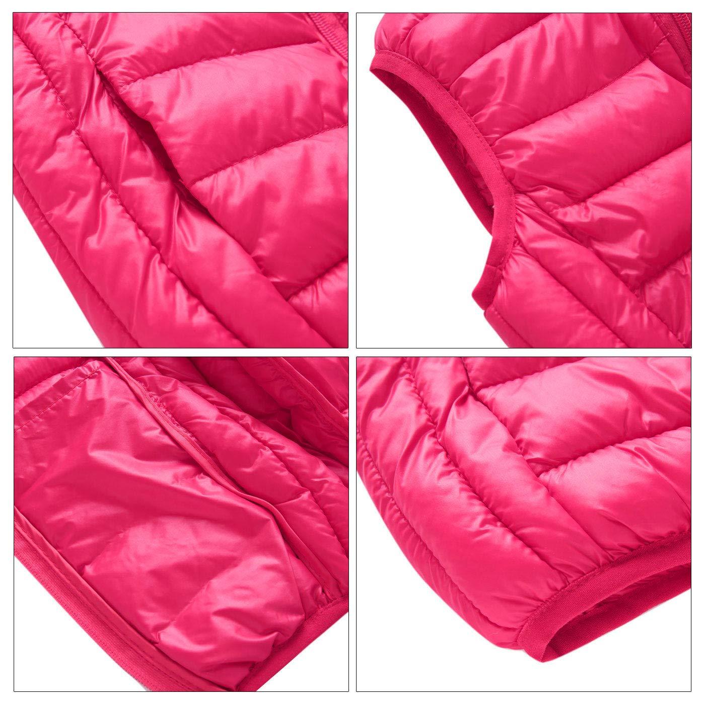 Happy Cherry Kids Padded Vest Thin Hooded Zipper Up Sleeveless Jacket 3-8T