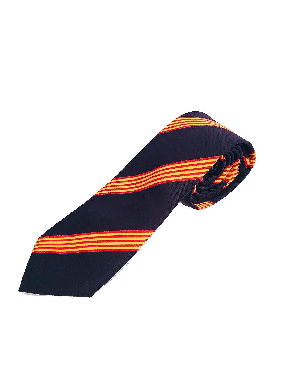 corbata bandera catalunya Petro Baldini corbata catalana catalu/ña Corbata azul bandera catalana Corbata azul con bandera de catalu/ña