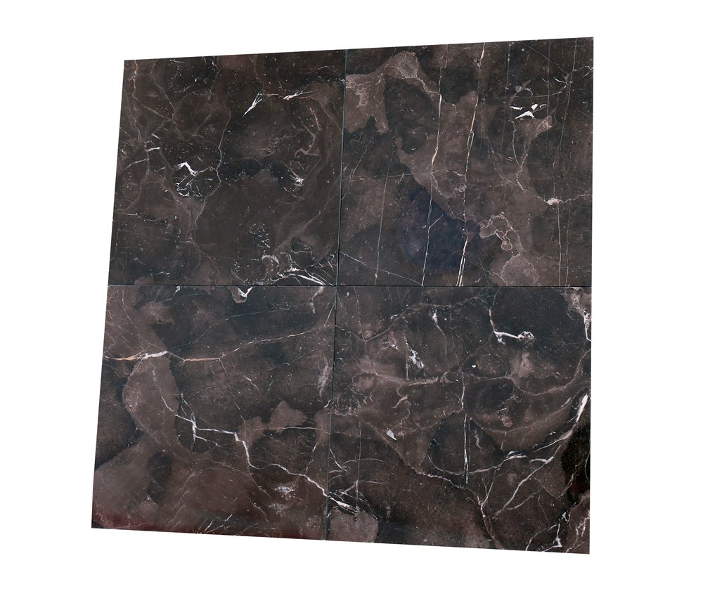 Marble Tile,Natural Polished Stones Chinese Dark Emperador Marble Tile Marble Decor Marble Slab (12x12 Inch-5Pcs per Case,5SQF) by Deluxe Stone (Image #2)