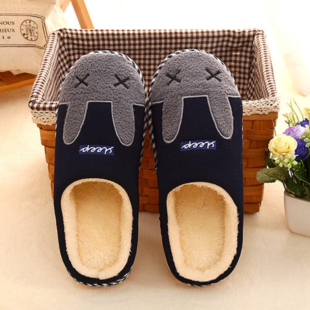 Hiver Pantoufles Maison Pantoufles Mignon Coton Peluche Chaussons Chaude Doublure Int/érieur Chaussures Femme Homme Douce Accueil Slippers