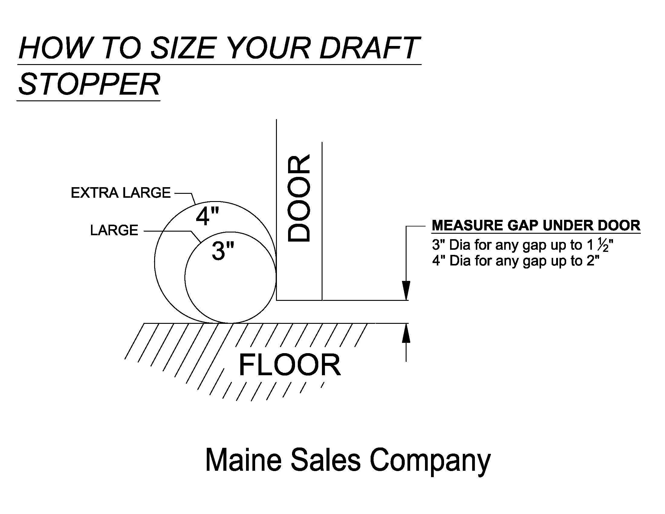 Draft Stopper - Buckwheat Hull - Black - 4'' x 32'' (for a 30'' Space) Measure and Choose The Correct Size - Blocks Cold, Heat, Noise, Dust, Bugs, Light, Odors, Pollution - Made in USA by The Maine Sales Company