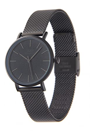 Uhr Modern leslii premium edelstahl meshband schwarz moderne damen uhr