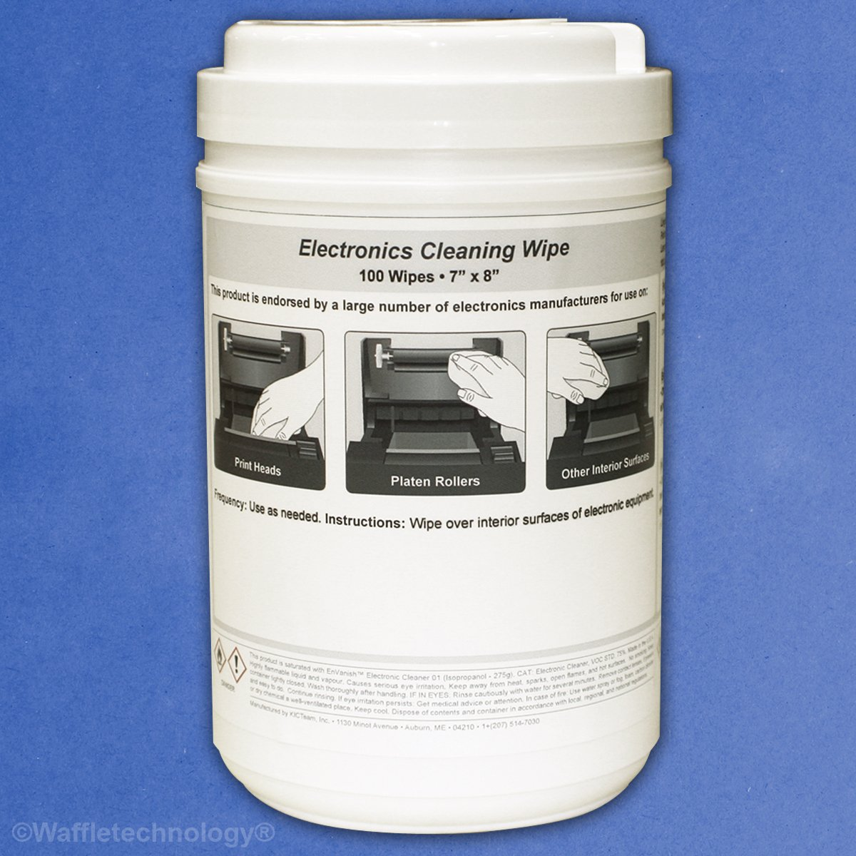 Electronics Cleaning Wipe (7''x8'') 100/Canister (6)