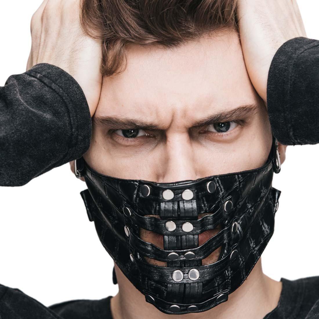 QIYUN.Z Pest Schnabel Maske Gothic Cosplay Retro Doktor Vogelmaske PU-Leder Maske