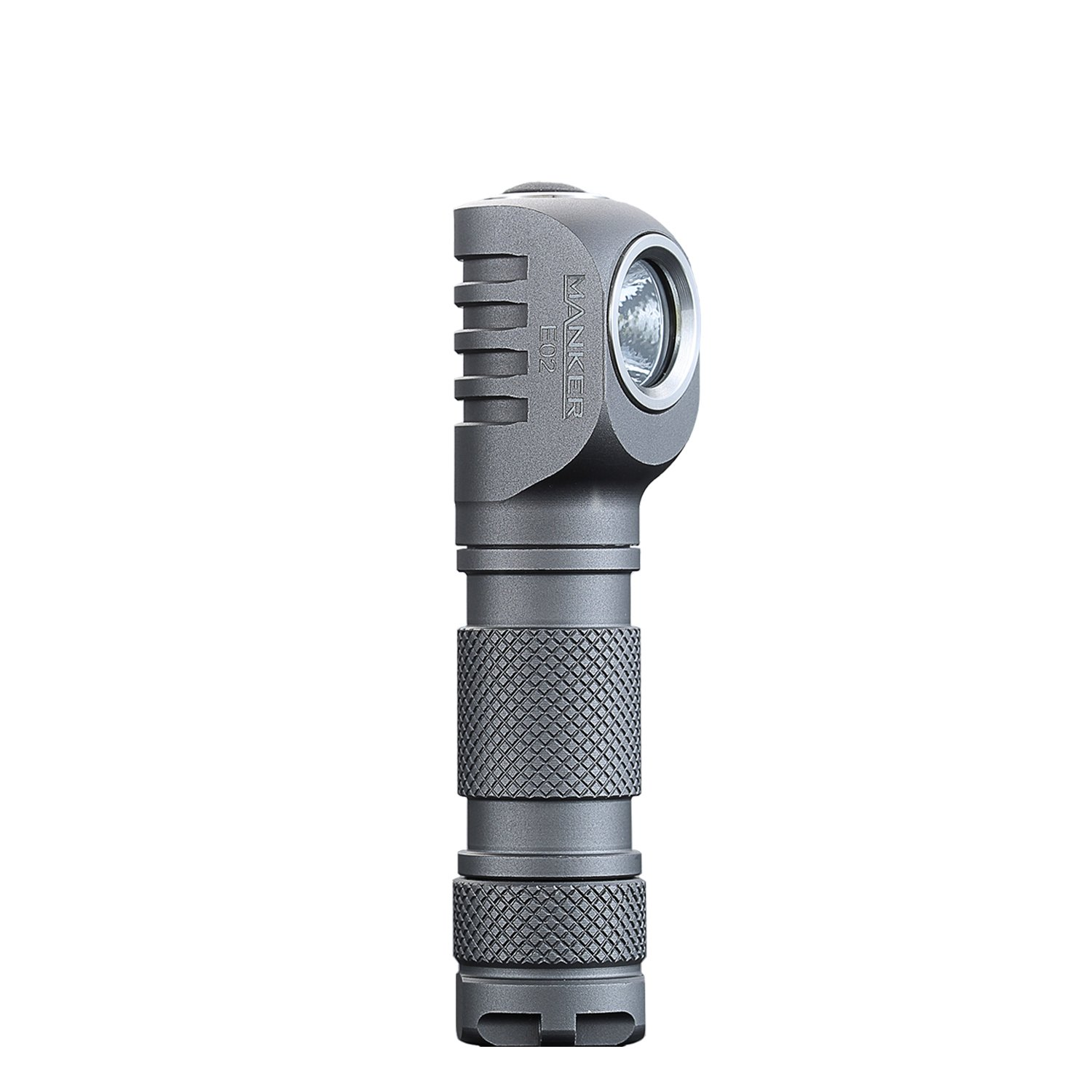 Manker E02 Best Aaa Flashlight 220 Lumen Right Angle Light Keychain In Fig 71b Is Also A Constantcurrent Circuit With The Base Fixed At Mini Edc Led Cree Xpg3 Reversible Clip Magnet Tail Grey Color
