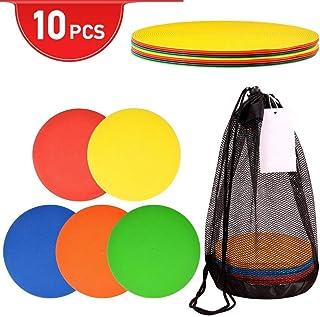 kekai Cônes de Sport, 10 cônes Plats très Visibles pour la Formation avec Un Sac de Transport en Filet pour Le Football