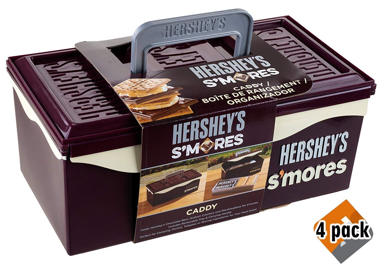 HERSHEY'S S'Mores Caddy with Tray, Brown by HERSHEY'S