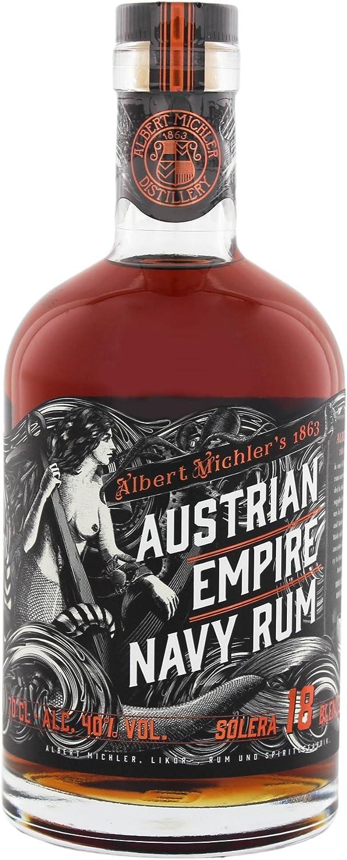 Albert Michler 18 Años Solera Armada Austriaca Imperio Ron - 700 ml