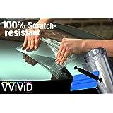 "VViViD Clear Paint Protection Bulk Vinyl Wrap Film 12"" x 120"" Including 3M Squeegee and Black Felt Applicator"