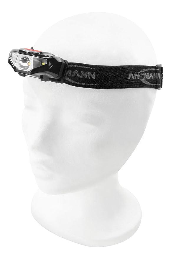 Klettern Laufen mit Hund 3W Kopflampe ideal zum Radfahren Joggen ANSMANN LED Stirnlampe HD70B mit 65 Lumen 80m Reichweite Camping /& Werkstatt Angeln 3 Funktionen IP44 Spritzwasserschutz