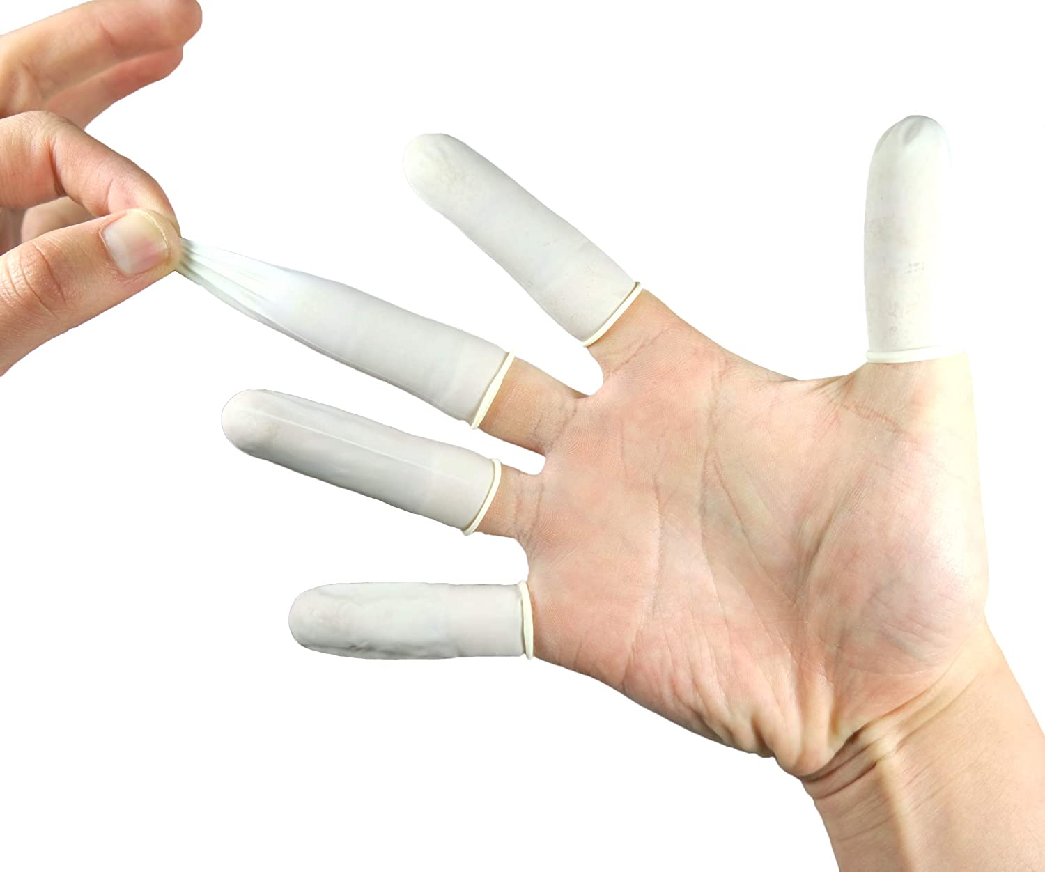 Disposable Latex Finger Cots for Electronic Repair Industrial Anti-Static Powder Free Rubber Fingertip Protective Finger Gloves Manicures Painting Topical Medical Application Handmade Apply