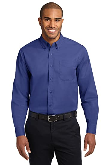 16a8b70bb Port Authority Men s Long Sleeve Easy Care Shirt at Amazon Men s Clothing  store  Button Down Shirts