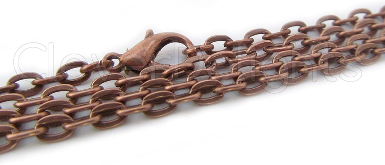 "24 Inch 5 Antique Copper Ball Chain Necklaces Pendant Dog Tag Bottle Cap 24/"""