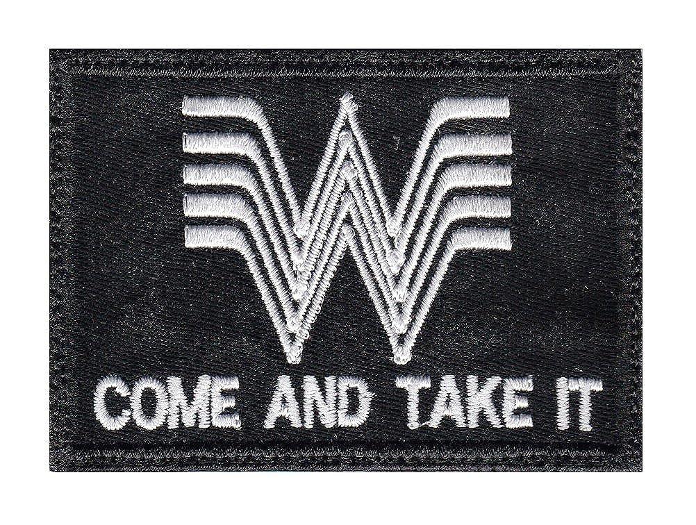 Multi Option Whataburger Come And Take It Guns Patch GLUE-0173-BK-WT