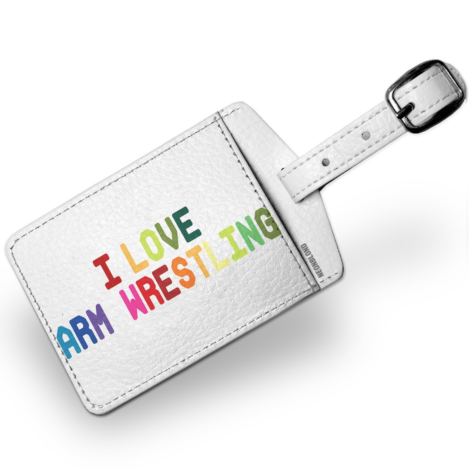 Luggage Tag I Love Arm Wrestling, Colorful - NEONBLOND by NEONBLOND