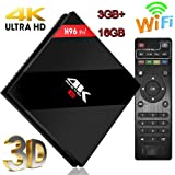 Android TV Box, Super-VIP Smart 4K TV Box Android 7.1 Amlogic 912 Octa Cora 3GB DDR3 /32GB Bluetooth 4.0 Wifi Set Top Boxes Support 3D 4K Ultra HD TV (H96 Pro Plus-3+16GB)