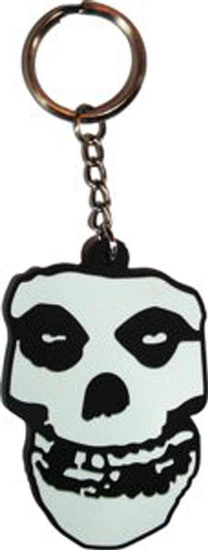 MISFITS Skull Crá neo 3D Rubber Keychain, Llavero Officially Oficialmente Licensed Autorizado Products Classic Rock Roca Artwork ilustraciones Assorted Surtido - 2' x 1' High Quality Calidad Rubber Keychain Llavero K-0223-R