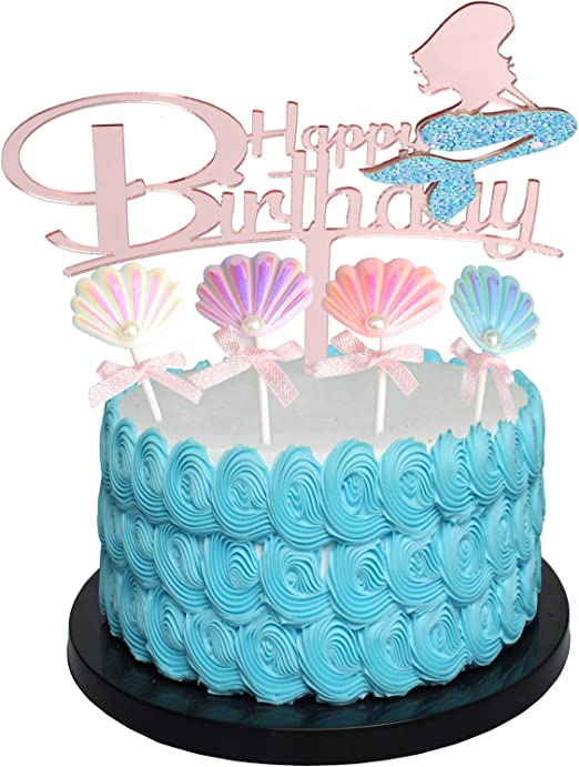 Miraculous Amazon Com Diy Happy Birthday Cake Topper With Mermaid Theme And Funny Birthday Cards Online Alyptdamsfinfo