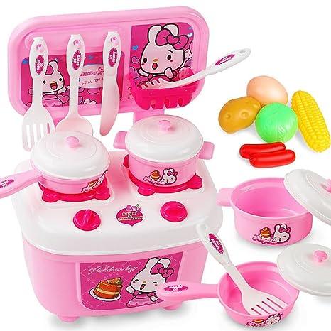 Amazon Com Unbranded Kid Girl Kitchen Set Pretend Play Toy Fruit