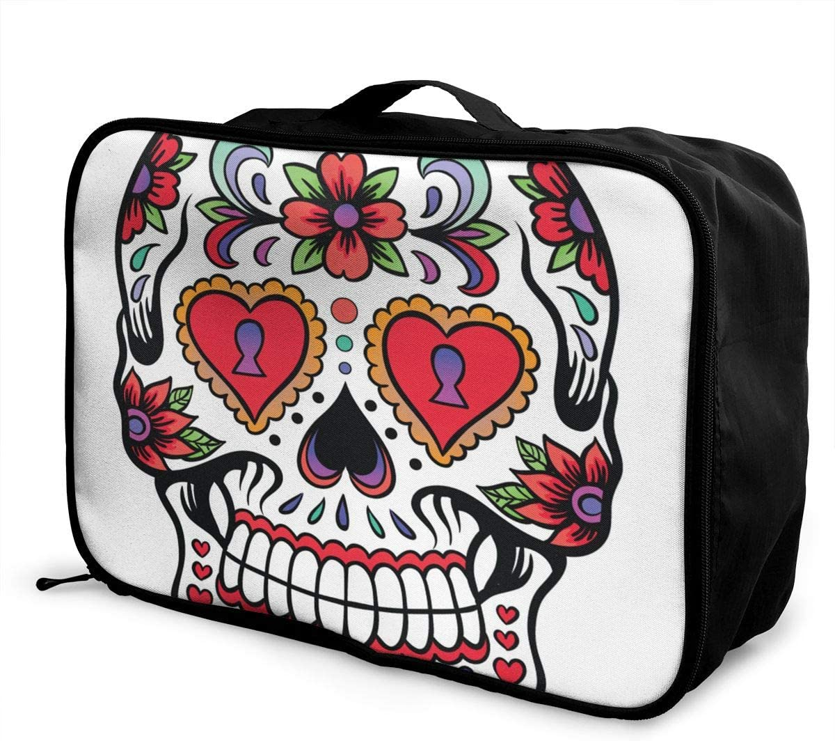 Travel Bags Mexican Skull Portable Tote Trolley Handle Luggage Bag