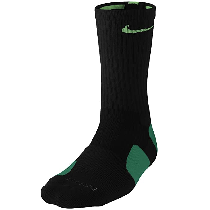 Calcetines Nike Mens Elite Basketball Crew, Negro, Talla ¨²nica