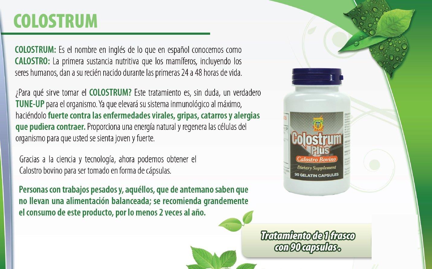 Amazon.com: Colostrum Capsulas de Calostro Bovino. Aumenta las ...