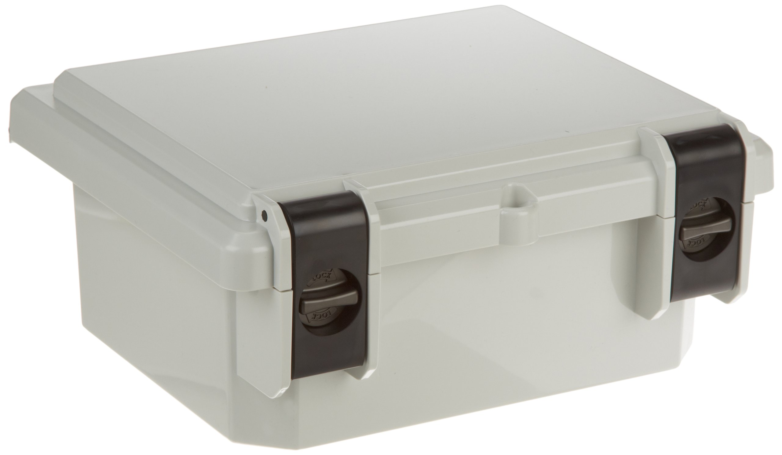 Serpac I342HL Polycarbonate Plastic Enclosure, 11-3/4'' Length x 9.98'' Width x 5.45'' Height, Gray Top/Bottom